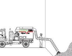 Caminhão Hipervac Succionando